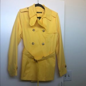 Ralph Lauren yellow trench coat/rain jacket